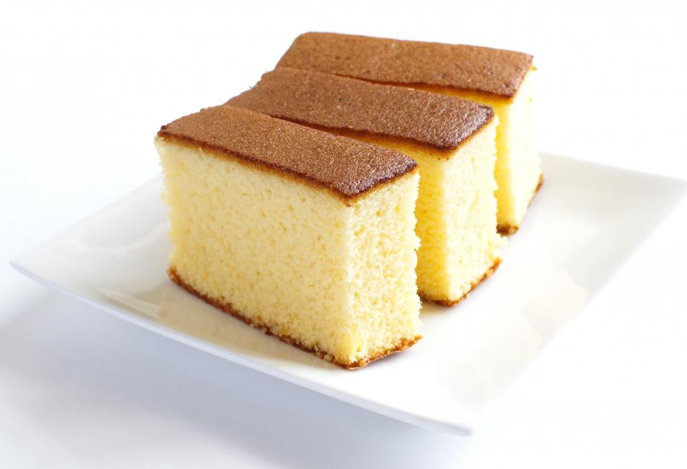Sponge cake is used for opera cake.