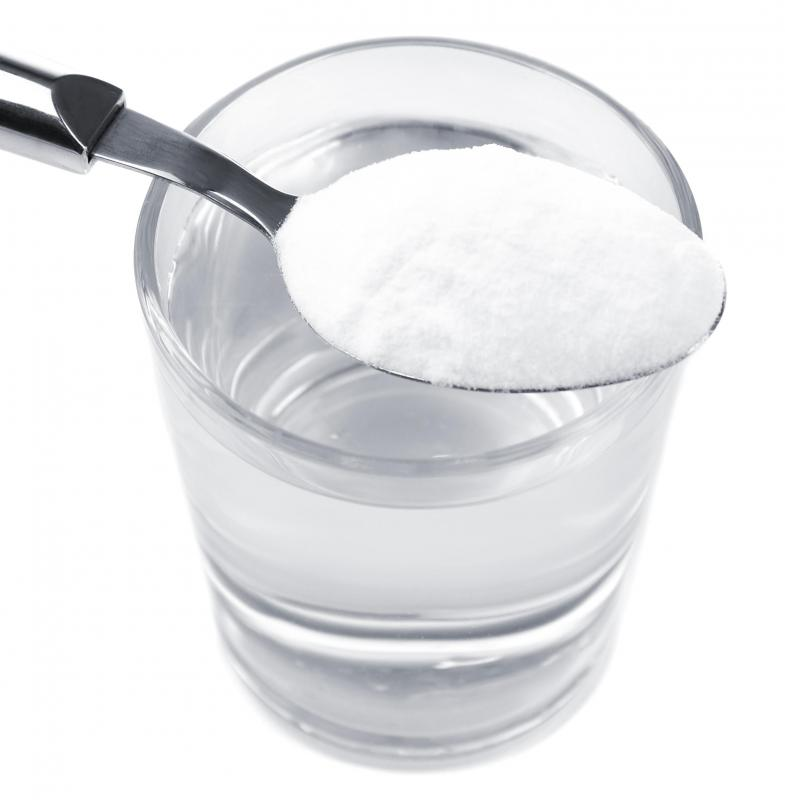 Combining baking soda and water can help to create a natural douche.