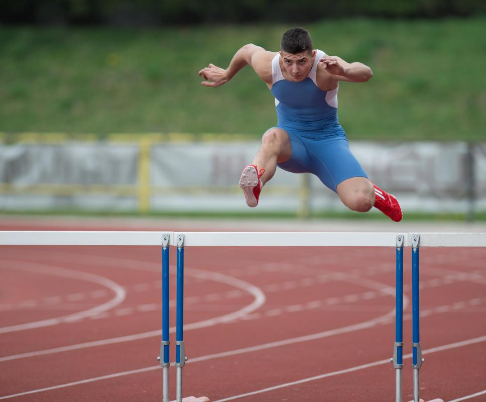 Experience in a particular event, such as the hurdles, can help lead to a career as a track and field coach.