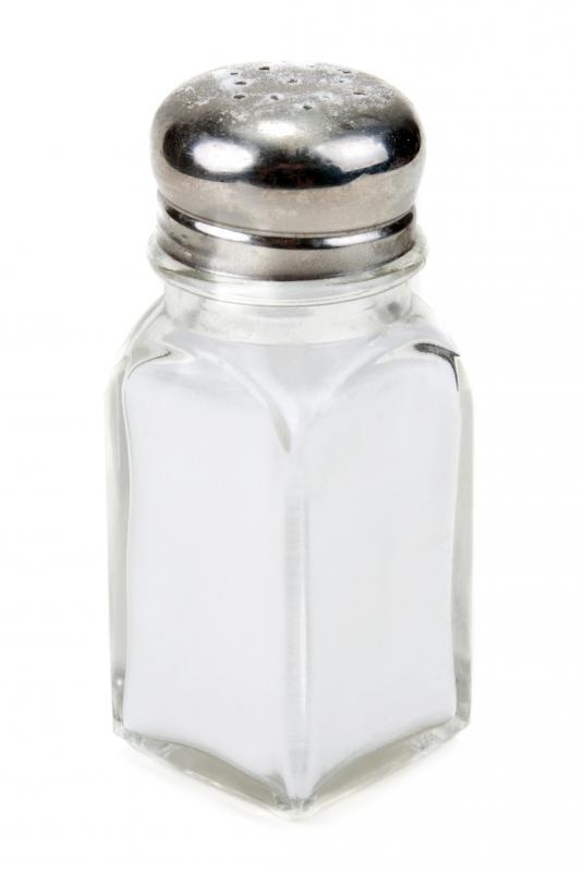Table salt can be dissolved in distilled water to make a saline solution that can be used to clean the nasal passages and relieve some symptoms of a cold.