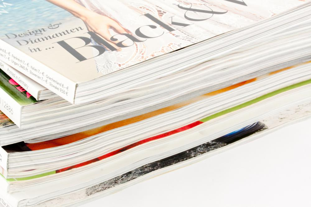 Magazines use graphic designers for print design.