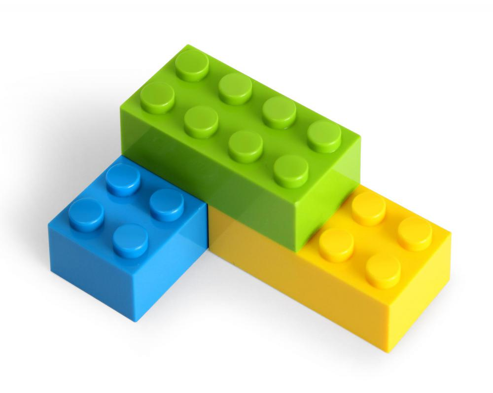 Acrylonitrile butadiene styrene, a type of thermoplastic, is used to make LEGO® blocks.