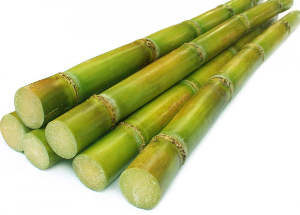 Sugarcane, which is produced in Grenada.