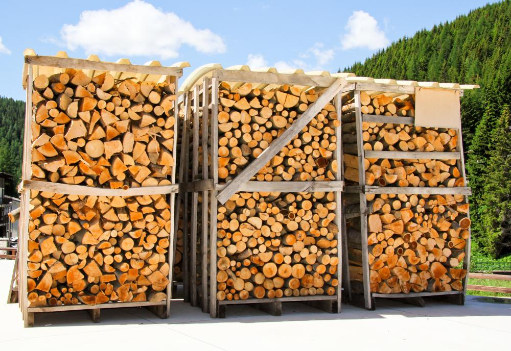 Wood stoves use cut fire wood as an energy source.