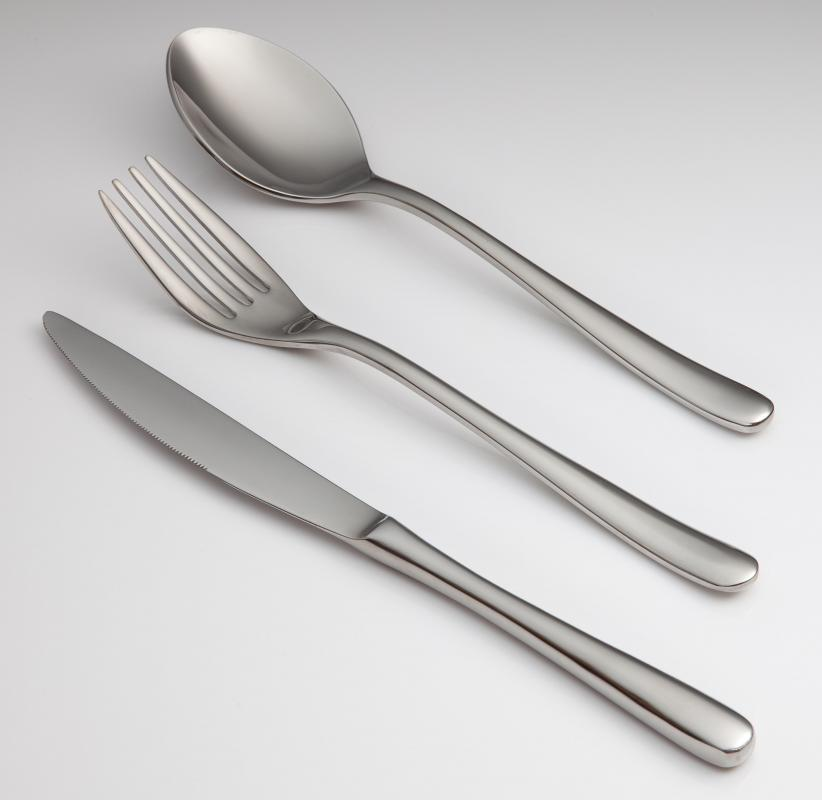 The order of silverware is important when setting a formal table.