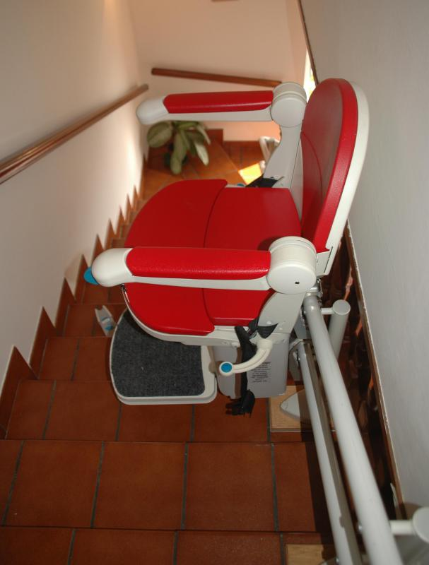 After a stroke, an individual may need to have a stair lift installed at home to aid in going up and down the stairs.