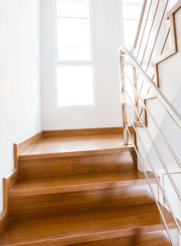 Building a DIY staircase requires knowing the run and rise of the staircase.