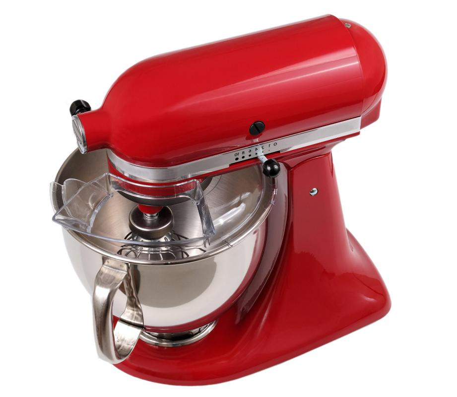 A KitchenAid Mixer Is A Stand Mixer With A Large Stainless Steel Mixing  Bowl.