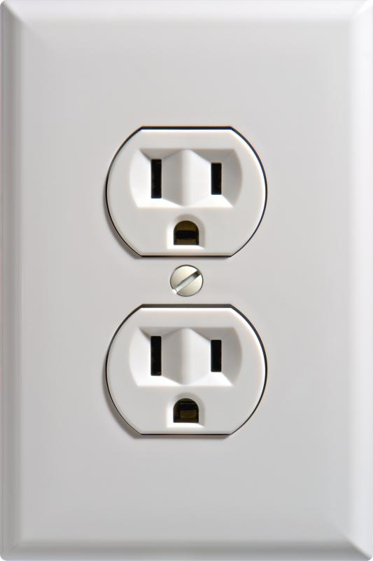 A socket designed for use with AC electricity.