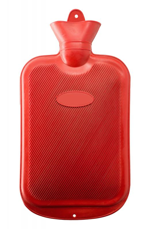 A hot water bottle may help alleviate boil discomfort.
