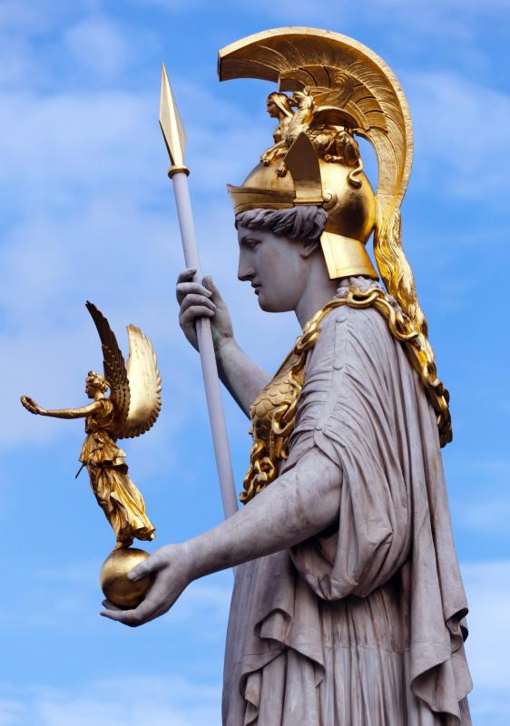 Athena is the goddess of wisdom and war.