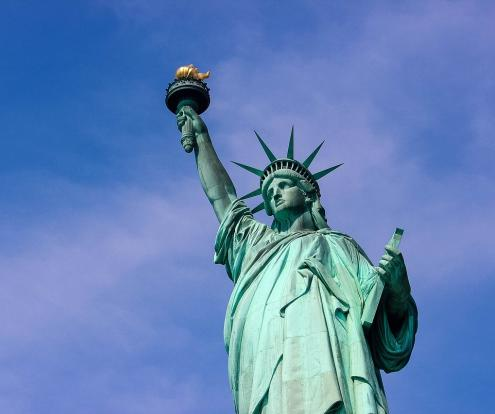 The Statue of Liberty's torch was replaced during renovation work between 1984 and 1986.