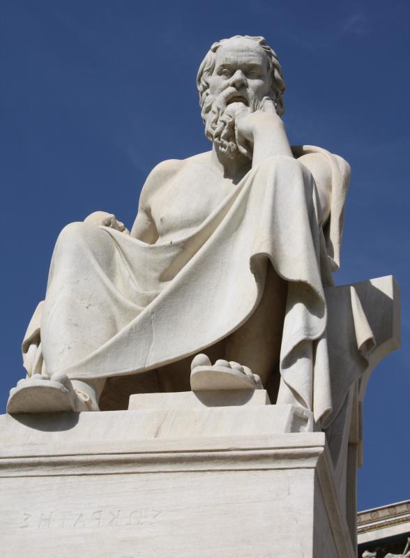 Socratic irony was used by the Greek philosopher Socrates in his teachings.