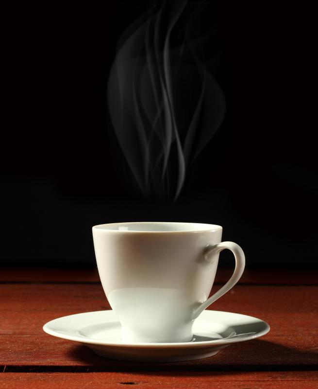 Hot beverages can sooth a throat that has become sore from coughing.