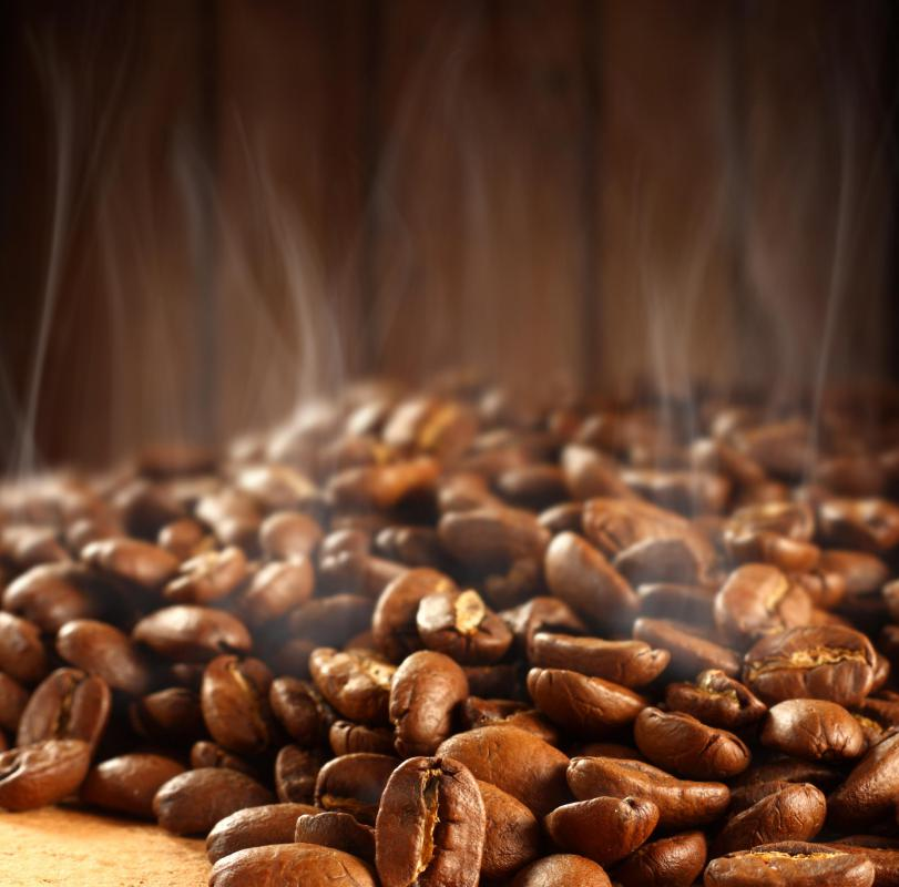 French roast coffee is made of beans that have been roasted until they are nearly burned.