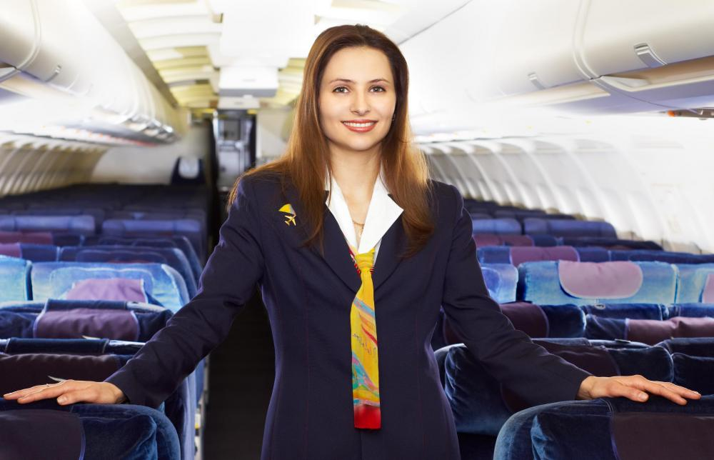 A stewardess is part of the cabin crew.