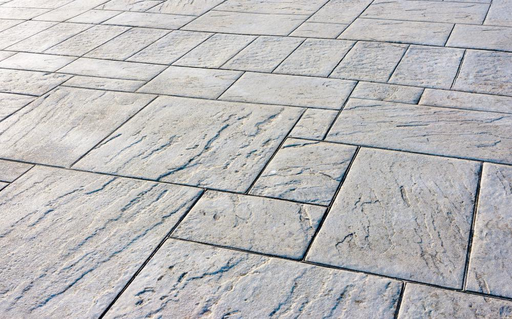 A stone floor is likely to show very little wear and be easy to maintain.