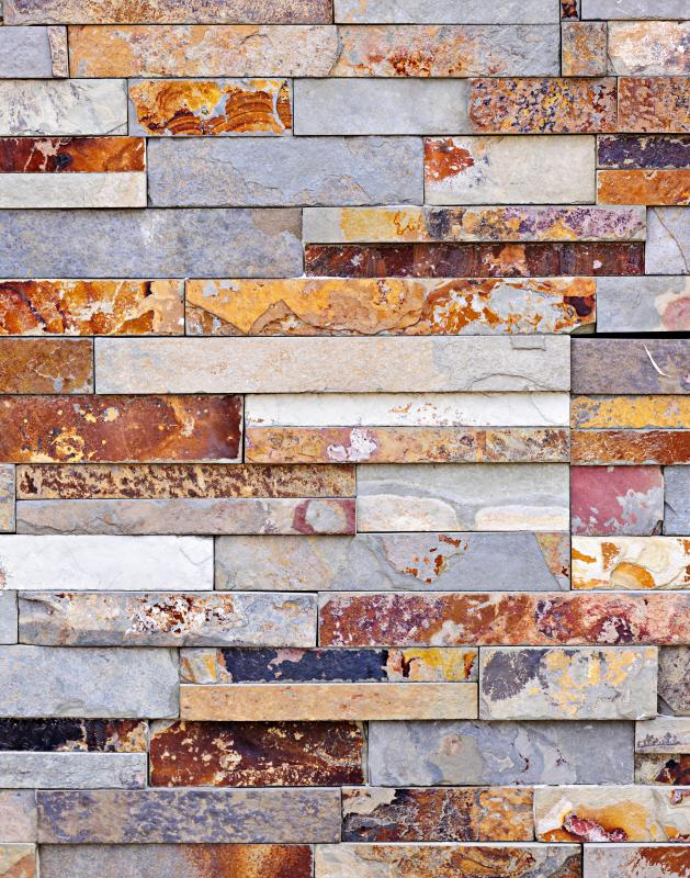 Some manufacturers produce cladding panels from thin sheets of stone veneer.