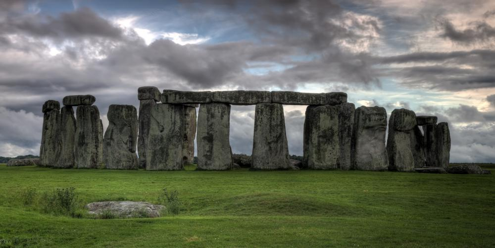 Stonehenge in England, from the middle-Neolithic period.