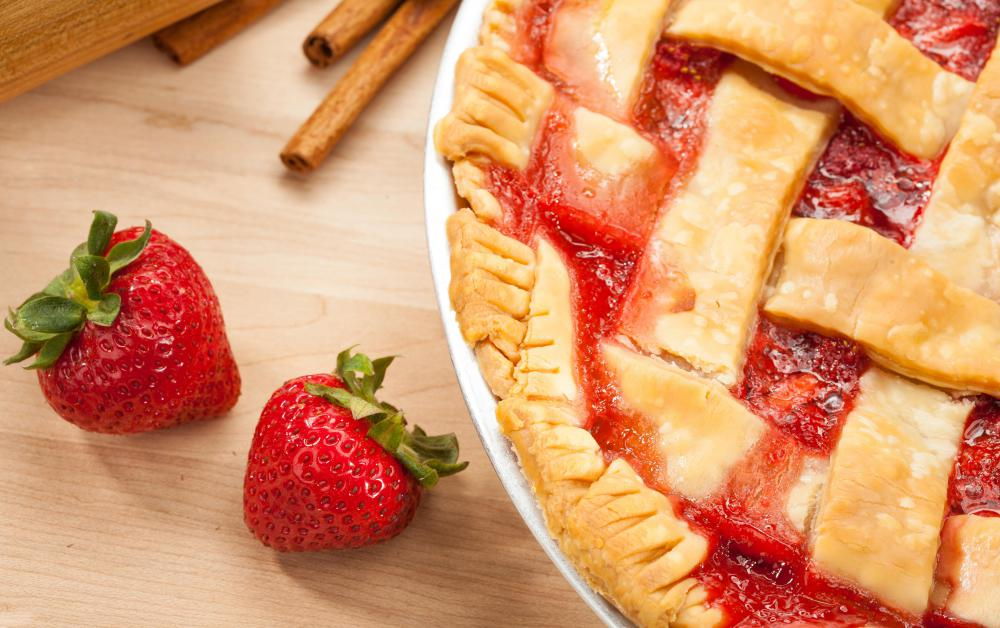 Strawberries are a common pie filling.