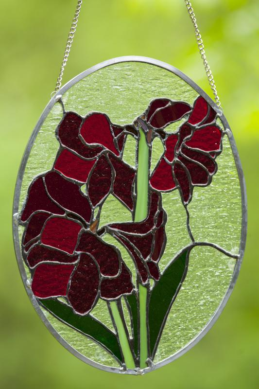 A stained glass suncatcher or light-catcher.