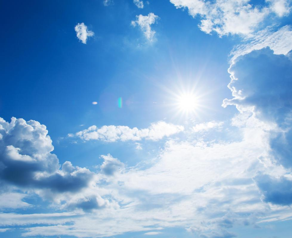 Sunlight stimulates the production of vitamin D in the human body.