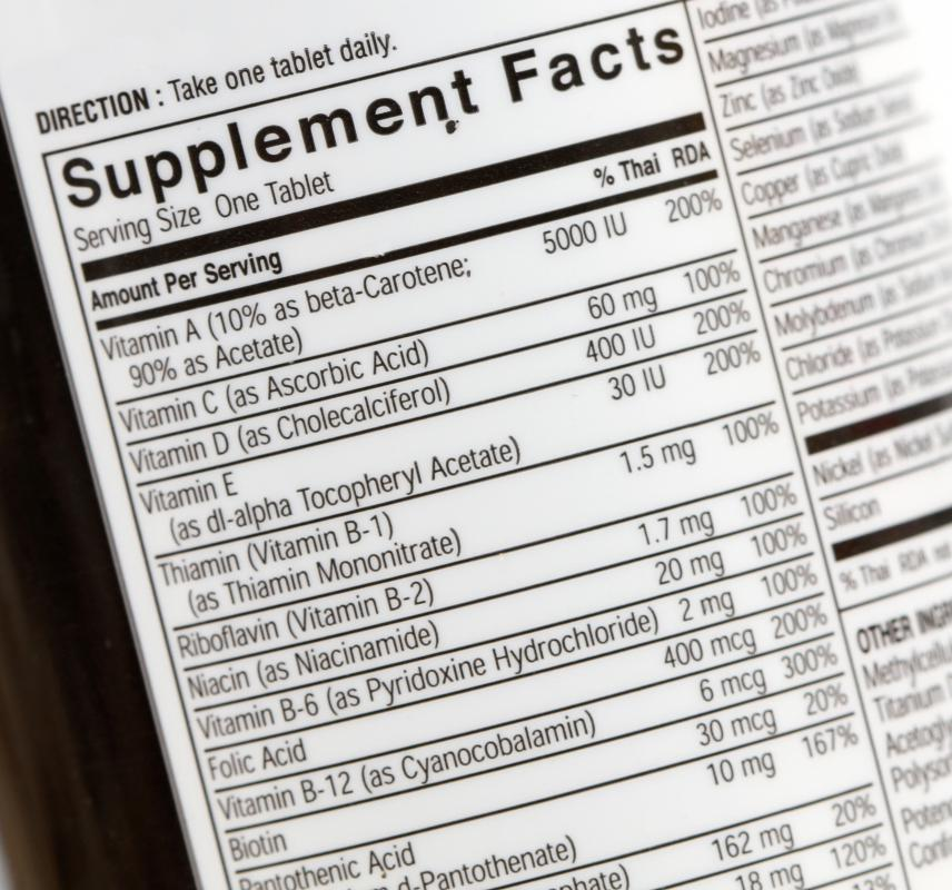 When reading label information, consumers should avoid antioxidant tablets with harmful mega-doses of vitamins or minerals.
