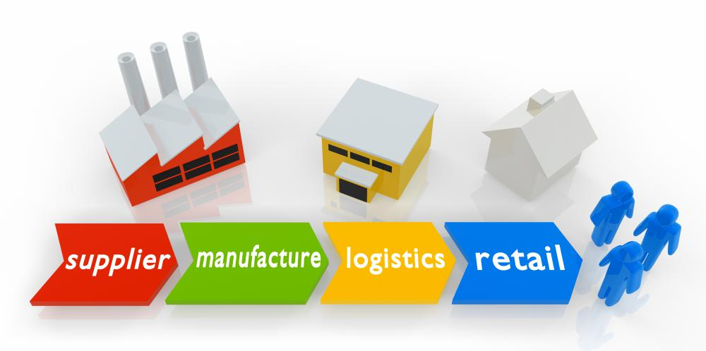Suppliers, manufacturers, transporters and distributors are key parts of the supply chain.