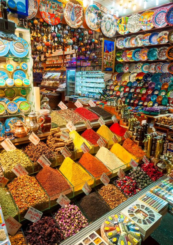 The concept of shopping malls derives in part from Middle Eastern bazaars and souks.