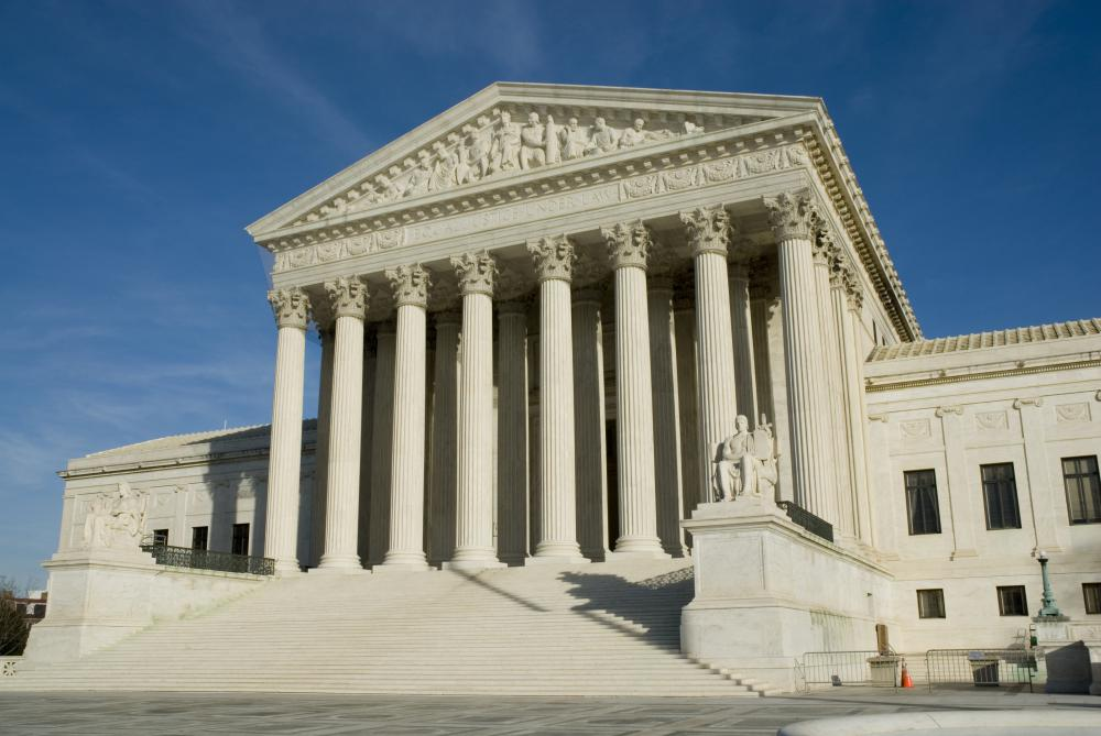 Most cases heard by the Supreme Court move up through state and district courts first.