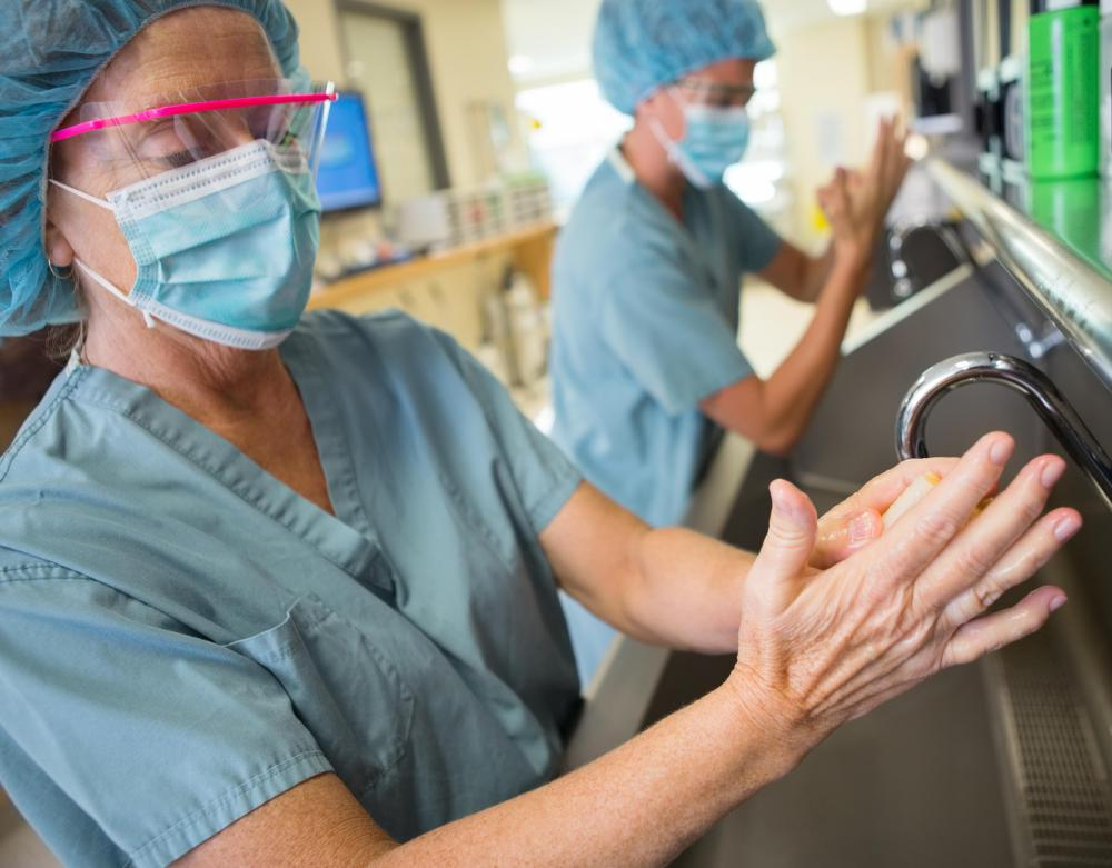 A patient may need to learn how to perform a surgical hand scrub in order to reduce the risk of infection.
