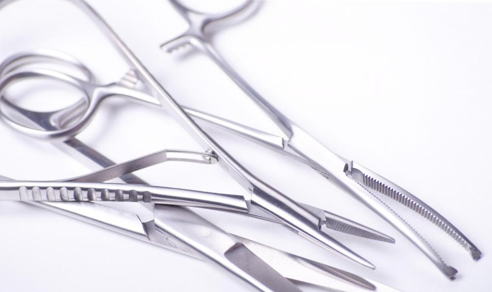 Curved scissors are commonly used for medical or surgical procedures.
