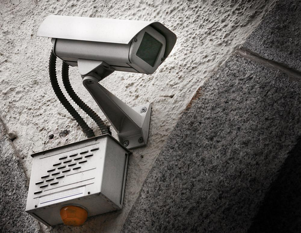 Home surveillance cameras may be used to monitor areas inside or outside of a home.
