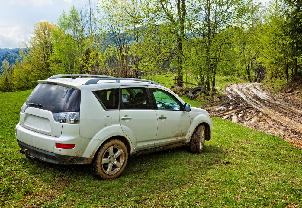 Some SUVs feature all wheel drive for driving through rough or slick terrain.