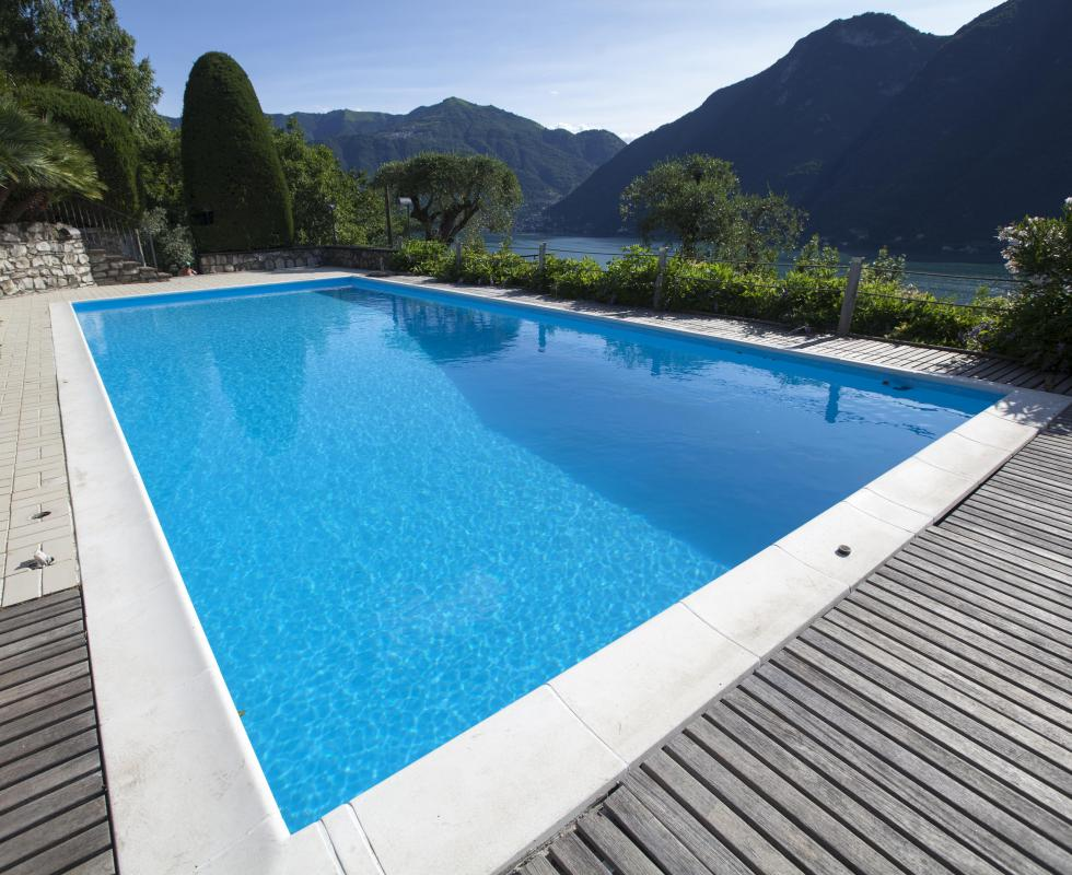 Chemical treatment, including chlorine, is the preferred method for treating swimming pools water.