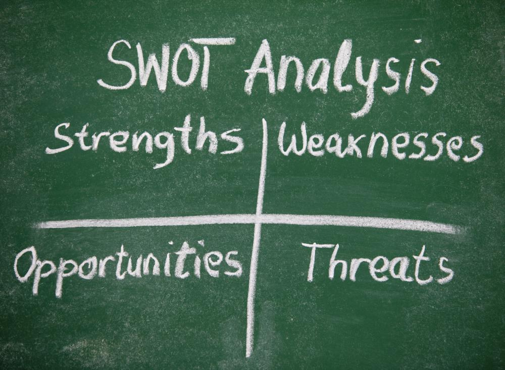 A SWOT analysis reviews both internal and external factors that can relate to a company's operations.