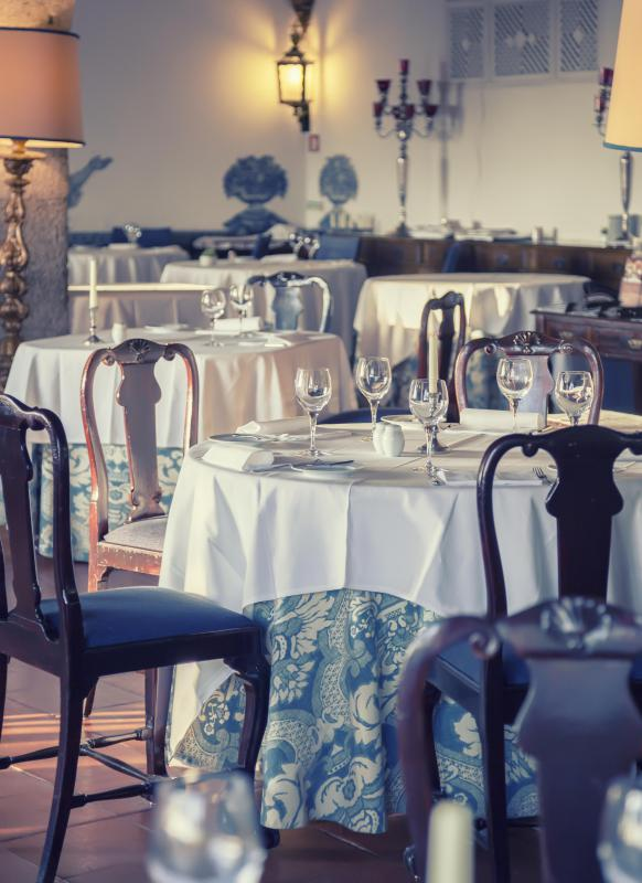 At a very formal restaurant, start-up costs include silver serving ware, tableware, and linens.