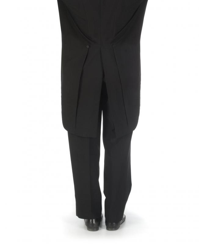 White tie or evening dress apparel for men requires a tailcoat.