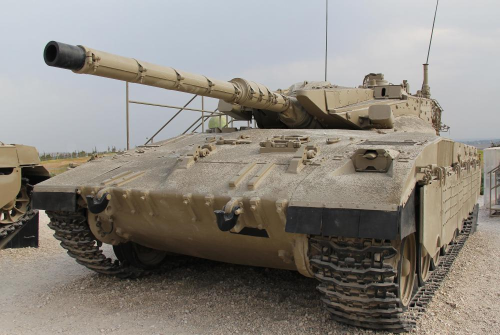 Heavy military equipment includes tanks.