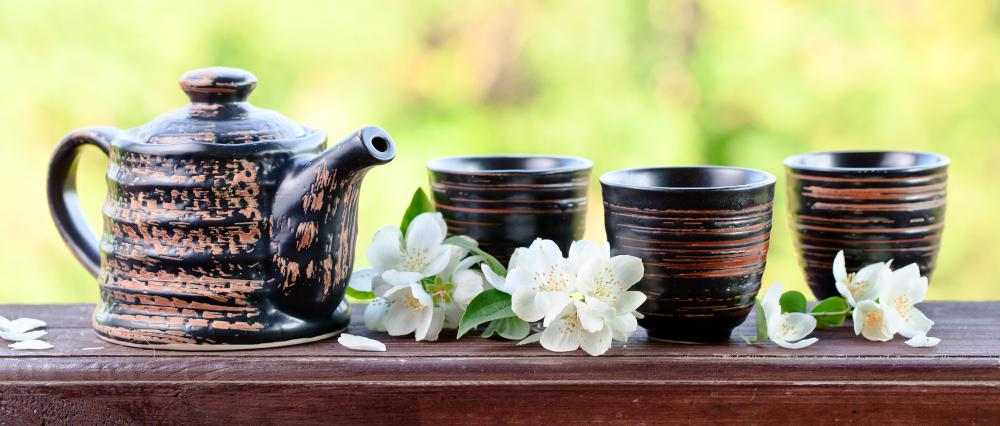 Some jasmine teas are made using fragrant night-blooming jasmine.