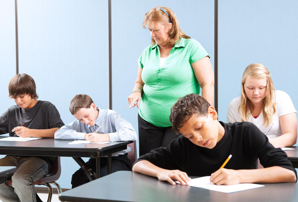 Standardized testing may be used to assess students.