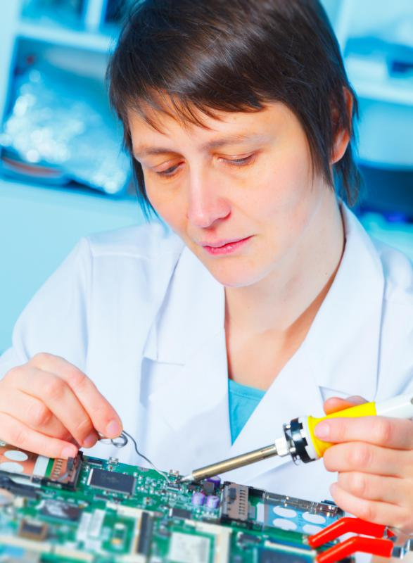 Soldering irons are commonly used to fuse wires and electronic components together on circuit boards.