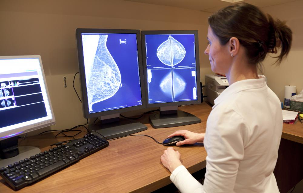 Radiologic technologists sometimes choose a speciality such as mammography.