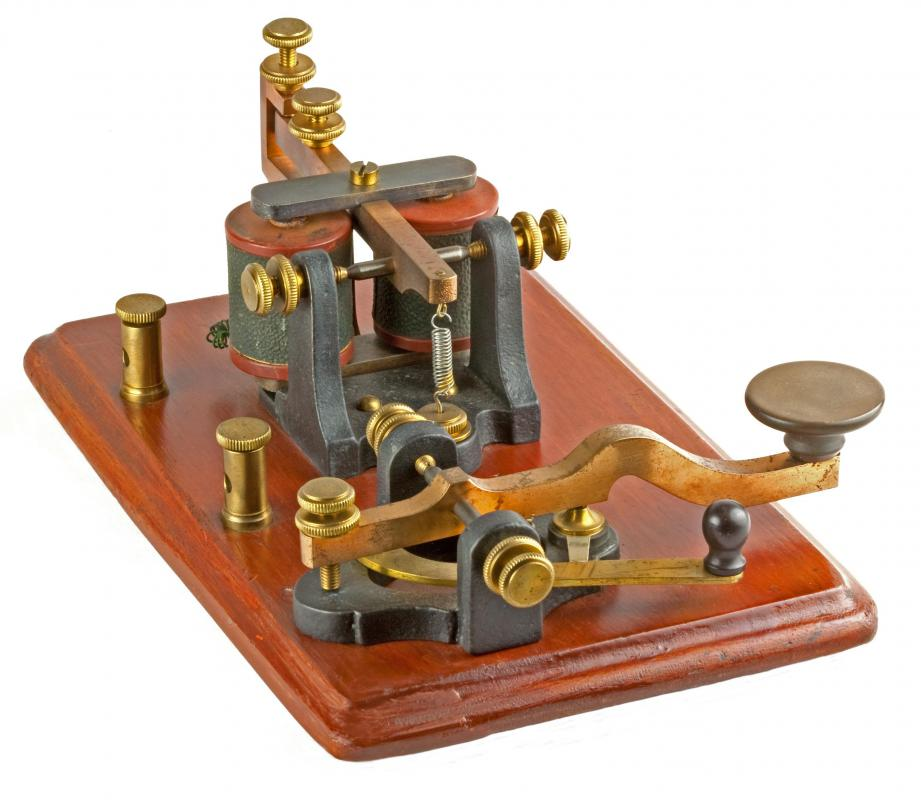 A telegraph, which was once used to transmit stock information.