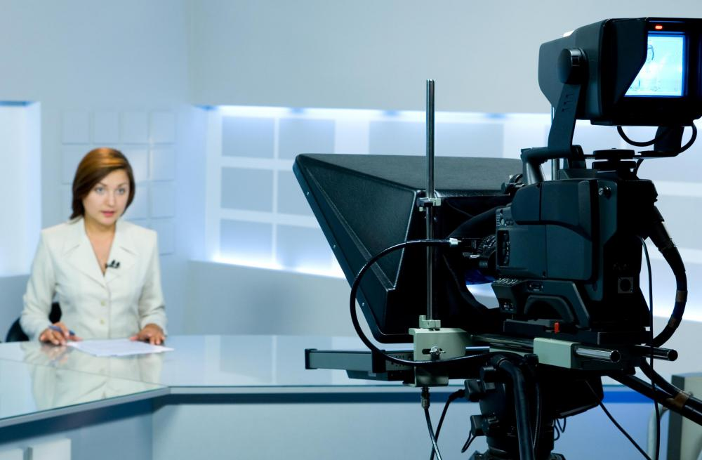Two-way mirrors are components of teleprompters.