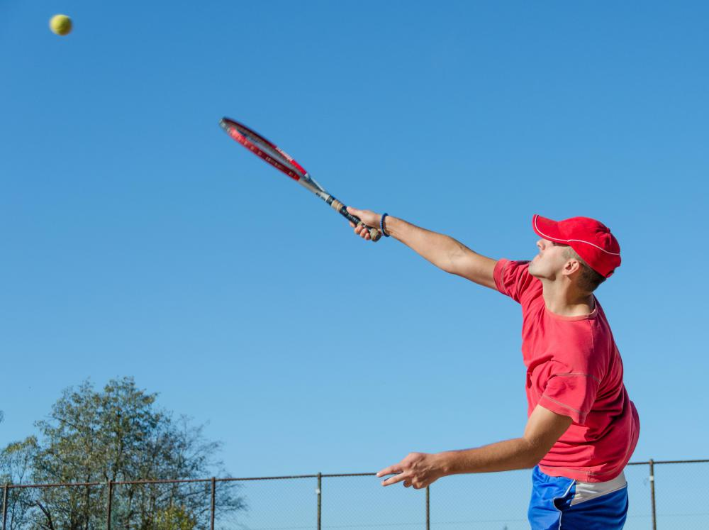Pronation occurs at the top of the tennis swing.
