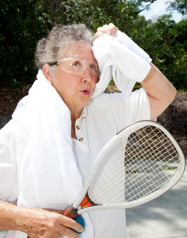 Racquetball can put strain on the back muscles.
