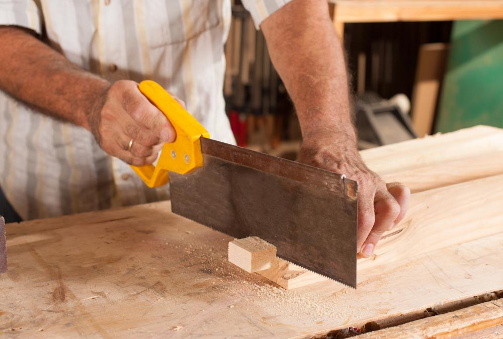 A tenon saw is used in carpentry and woodworking to create tenons.