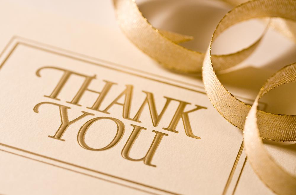 Wedding consultants may help design and send out thank you notes to attendees after the reception.