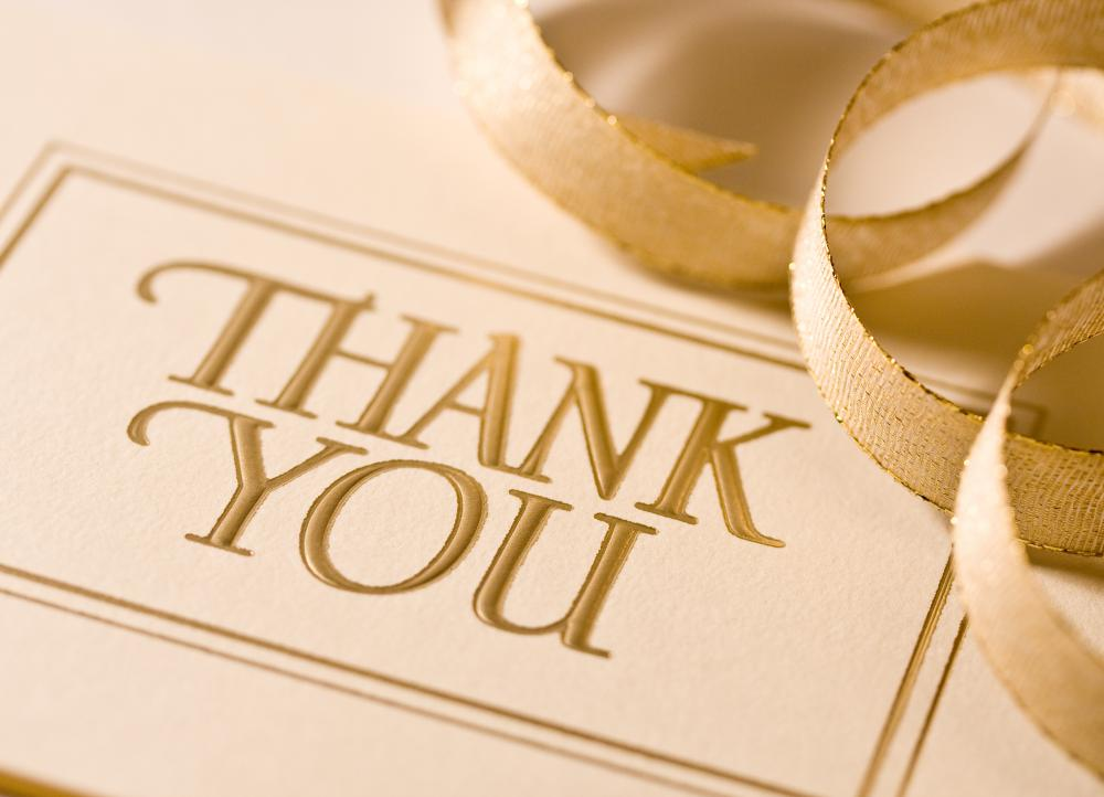 Candle party hosts typically send attendees thank-you notes following the event.